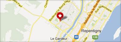 Google Map - Aréna le-gardeur