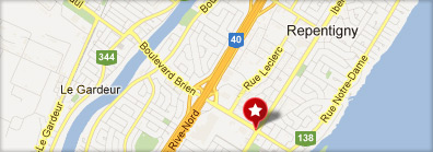 Google Map - Aréna repentigny
